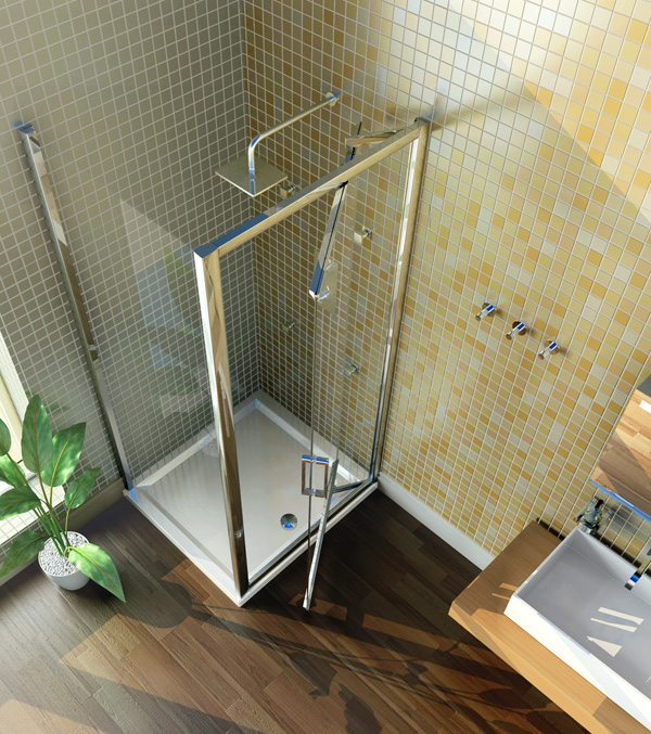 Merlyn showering infold door shower enclosure