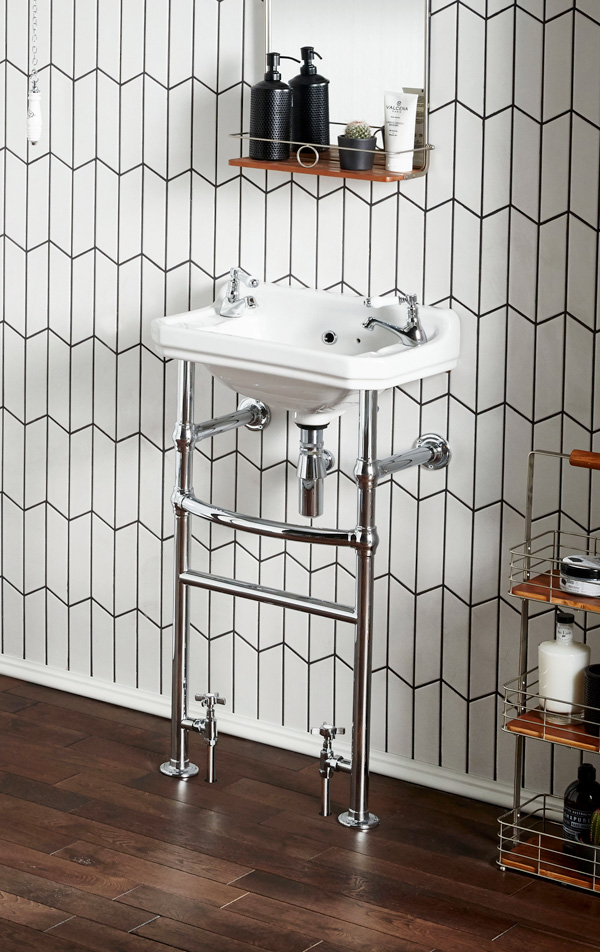 frontline bathrooms basin towel rail