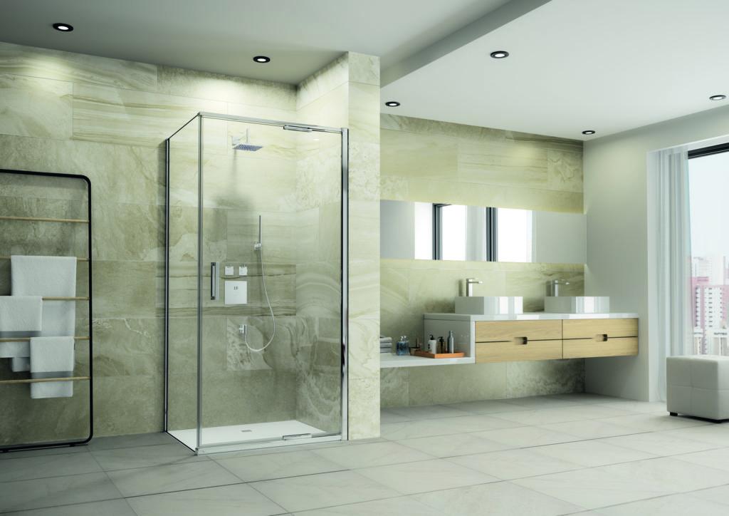 'Virtually frameless' shower enclosures from Merlyn