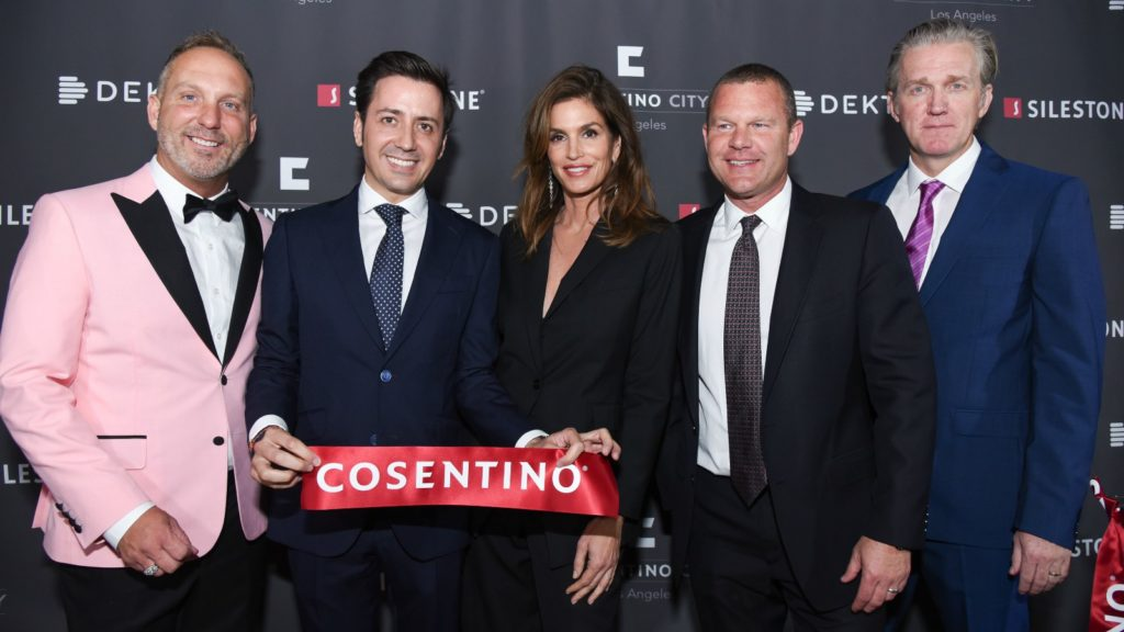 Cindy Crawford attends Cosentino opening