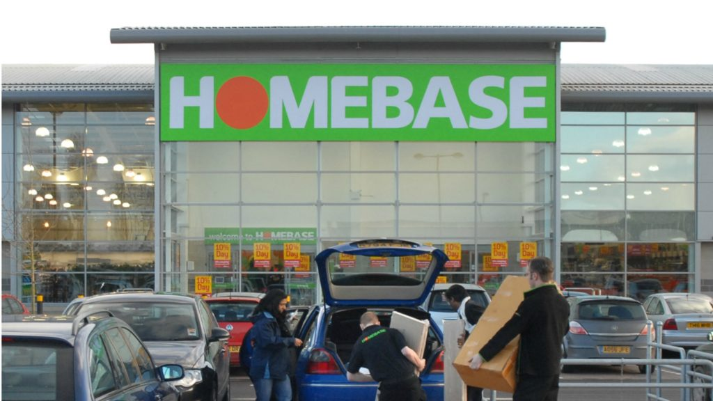 Homebase at bottom of Which? high street shop survey
