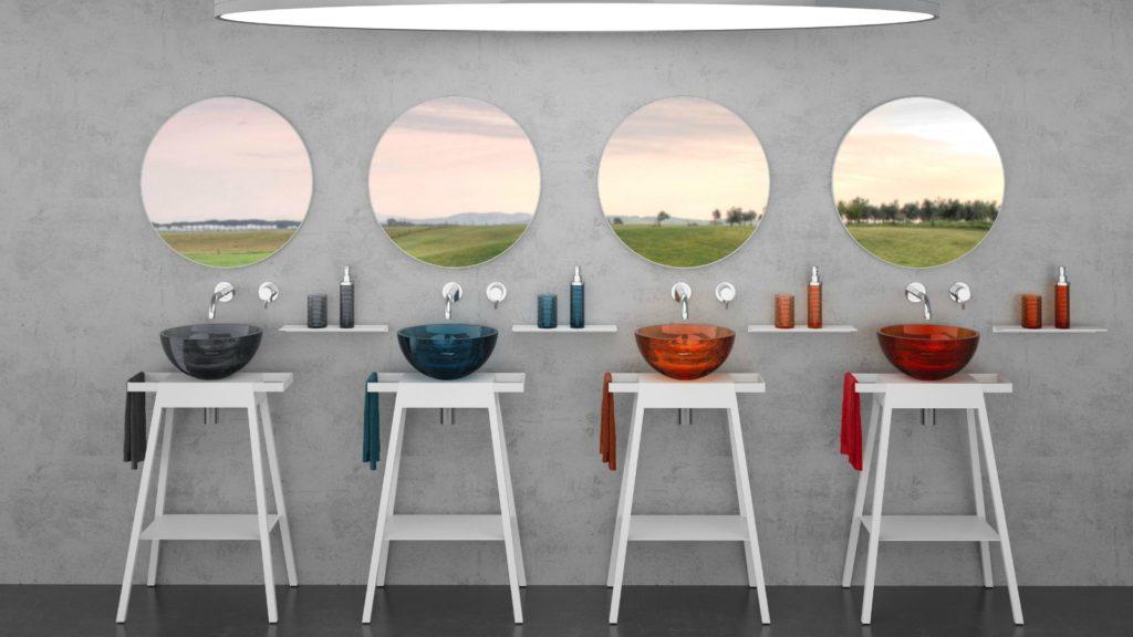 Glass Design unveils Bloom washstand