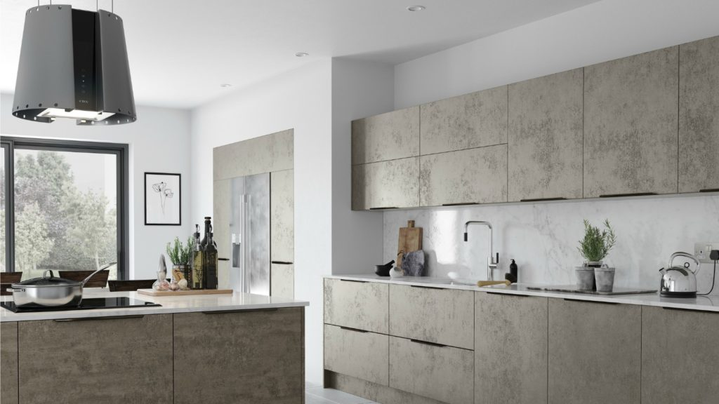 Stone-inspired furniture from Trend Kitchens