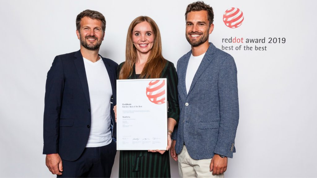 Hansgrohe scoops Red Dot Awards for Edge and Rainfinity
