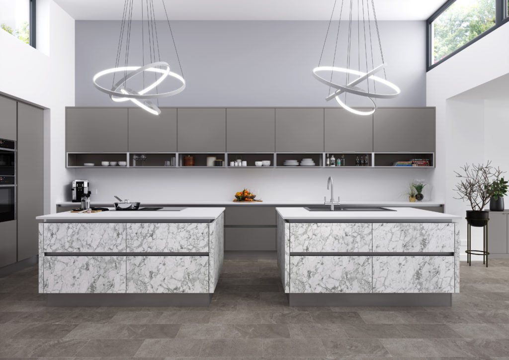 Meteor Bianco kitchen from Crown Imperial