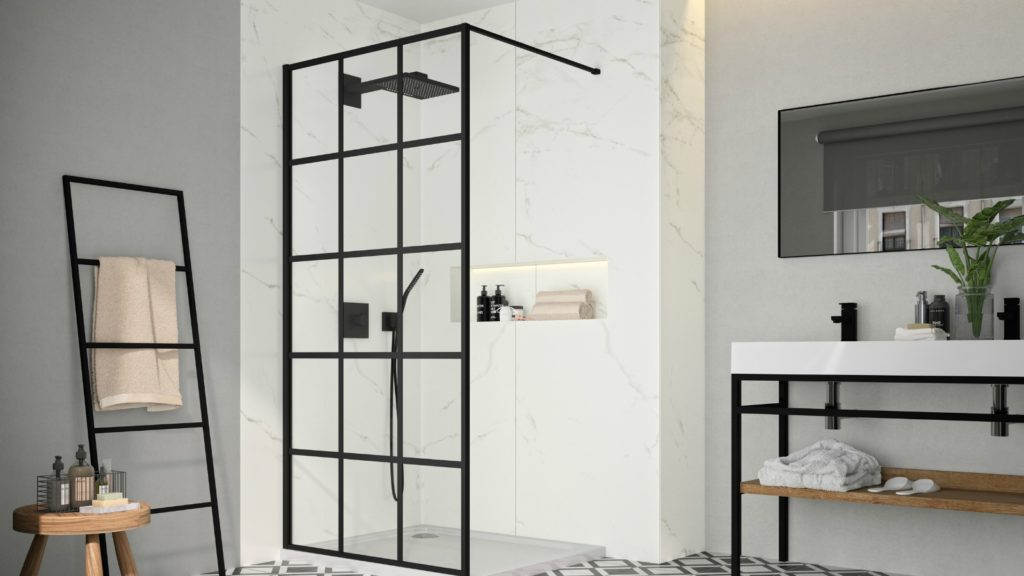SHOWER ENCLOSURE TRENDS: Look in glass