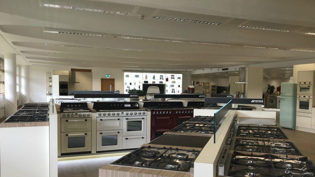 Smeg refurbishes HQ showroom following flood