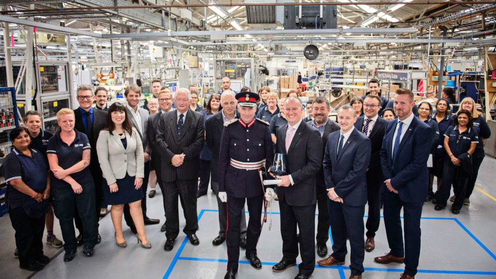Mira Showers celebrates Queens Award for Mira Sport Max