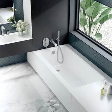 Kaldera built-in baths from Victoria + Albert Baths