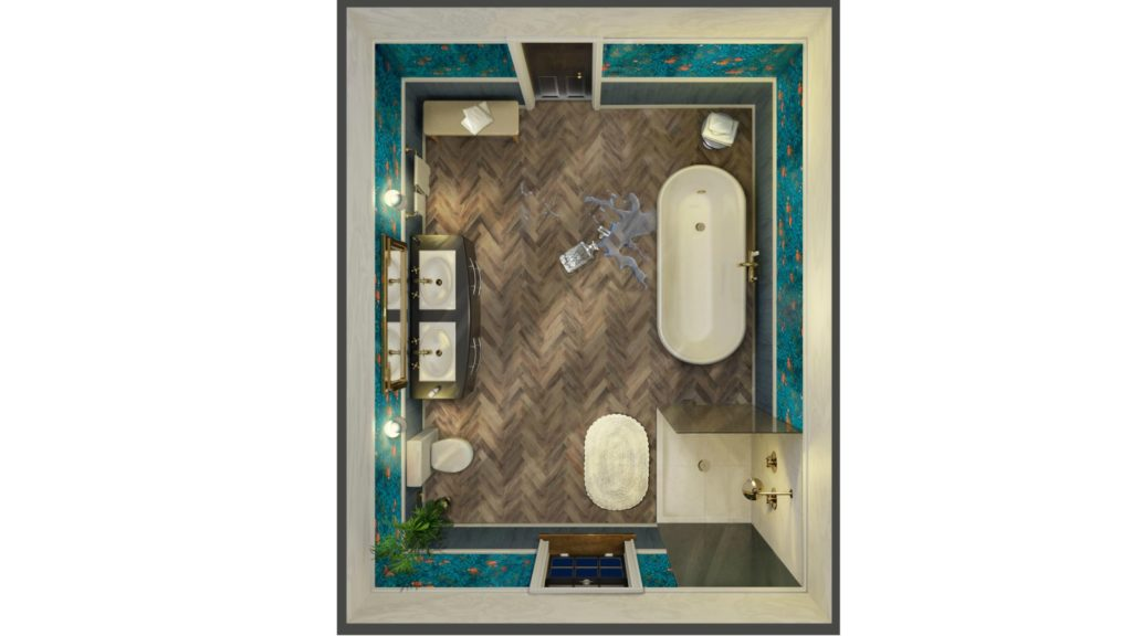 Houzz viewers vote for bathroom in Cluedo re-design
