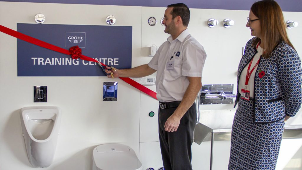 Grohe invests in trainee plumber centre