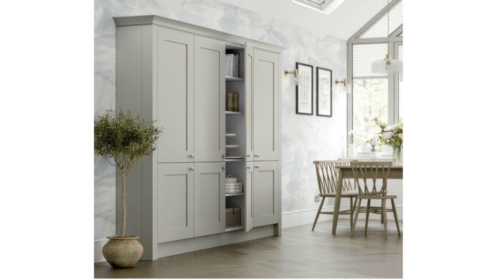 Grey kitchen cabinet unveiled
