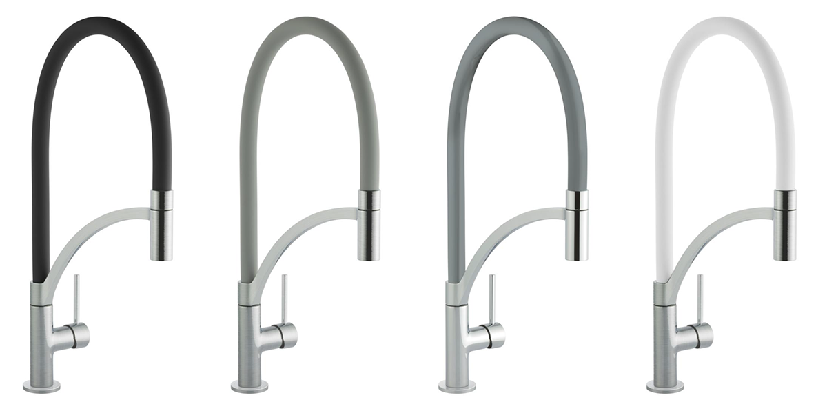 Prima+ swan neck pull-out mixer spray taps