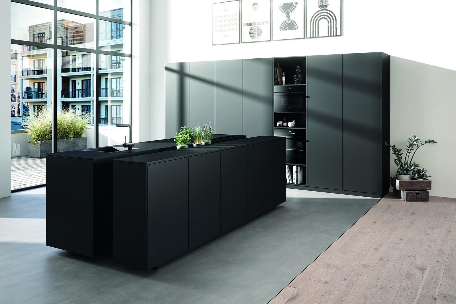 Rotpunkt | Core brushed metal kitchen