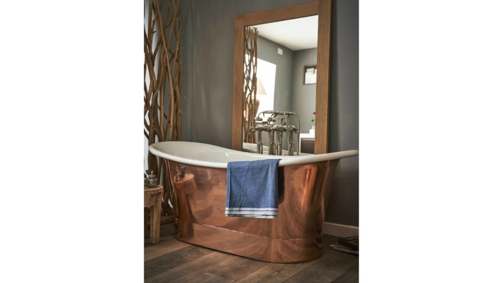 Indigenous - Copper & White bateau bath
