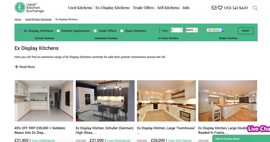 Used Kitchen Exchange invests £10k to support retailers