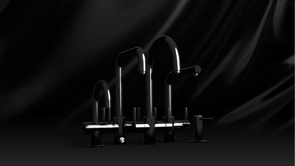 InSinkErator | 3N1 Velvet Black steaming hot water tap