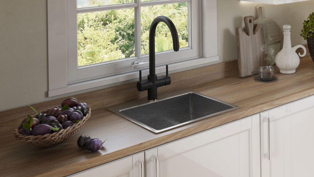 InSinkErator Velvet Black hot water tap
