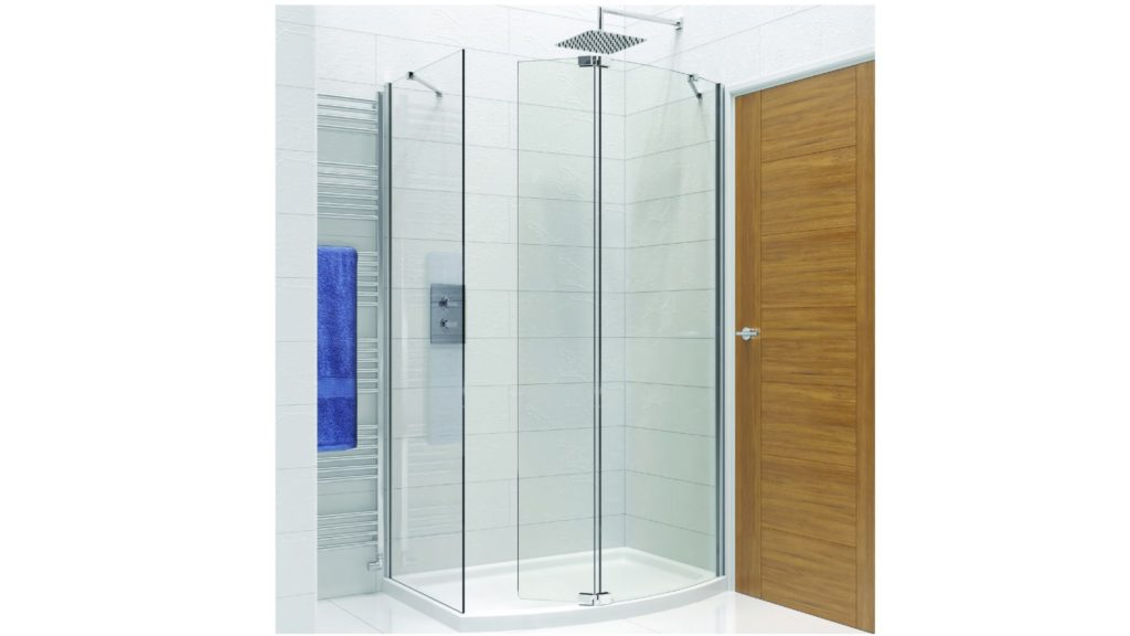 Kudos   Ultimate curved shower panel