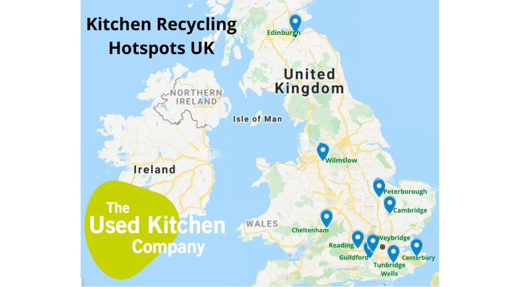 Top 10 kitchen recycling hotspots, according to TUKC