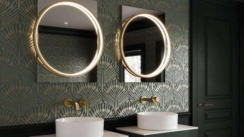 HiB | Brushed brass Solas mirror